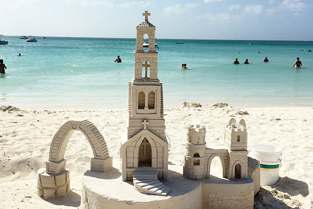 Church Sandcastle in Los Cabos